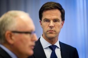 Rutte en Timmermans geven persconferentie over vliegramp